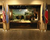Wildlife on the Trail is the first exhibit that visitors see at the Chisholm Trail Heritage Center in Duncan, Okla.