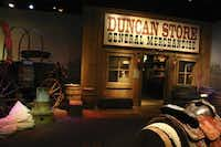 A genuine chuck wagon from the 1860s and a replica of William Duncan's general store are two of the hands-on, interactive exhibits at the Chisholm Trail Heritage Center in Duncan, Okla.