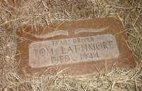 Not far from the stone obelisk on Monument Hill near Addington, Okla., is the grave of cowboy Tom Lattimore, who asked to be buried on the Chisholm Trail.
