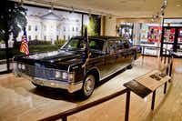 The limousine LBJ used in Texas after the presidency