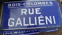Foire de Chatou, Paris, France - Enamel street signs These familiar, French blue and white signs are on building corners all over the country, and just one makes a great gift or addition to wall that needs a French accent. Le prix: 35 euros.Ellise Pierce  -  Special Contributor
