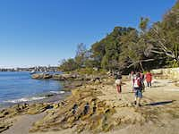 Forty Baskets Beach on the Manly to the Spit Bridge walk in Sydney, Australia, was named so because fish were caught here in the 1880s to feed Sudanese soldiers detained at the Quarantine Station.