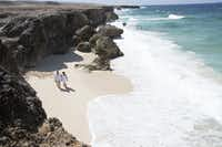 The journey to the Natural Pool offers striking views of the beach.