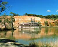 AUSTRALIA: Murray River: The 120-passenger PS Murray Princess is a working paddlewheeler built specially for the Murray River.