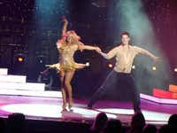Dancing with the Stars pro dancers hit the Vista Lounge stage in a Dancing with the Stars at Sea production.