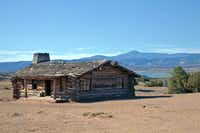 "Ghost Ranch has been the site of many movies. This cabin was built for ""City Slickers."