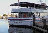 The Capt. Pete, anchored at the Gulfport Small Craft Harbor, is the public transportation to West Ship Island. The service has been operated by the Skrmetta family for more than 80 years.(Bruce N. Meyer -  Bruce N. Meyer )