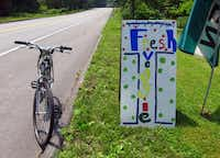 Cyclists can refuel with fresh produce sold at stands along Route 1 in mid-coast Maine.