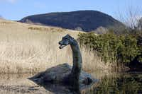 The only sighting we had of the Loch Ness Monster was this floating statue at the Loch Ness Centre and Exhibition in the village of Drumnadrochit.