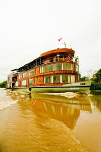 SOUTH AMERICA: Mara–on and Ucayali Rivers, in Peru: The 28-passenger Delfin II explores South America's Mara–on and Ucayali Rivers, tributaries of Peru's Upper Amazon.