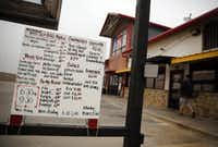 The drive-thru menu lists all the favorites plus the early morning breakfast items at BBQ on the Brazos in Cresson.Tom Fox  -  Staff Photographer