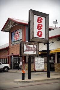 BBQ on the Brazos has a drive thru.Tom Fox  -  Staff Photographer