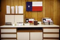 Simple Texas surroundings are found at Lazy S&M BBQ.Tom Fox  -  Staff Photographer