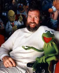 Jim Henson with Kermit the Frog, probably the most famous of his Muppet creations