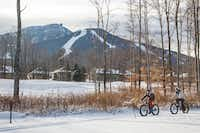 Vermont's Jay Peak Resort  has added a dozen fat bikes to its Nordic center to meet customer demand. Riders can now access more than 9 miles of groomed trails.(Jay Peak Resort - Jay Peak Resort)