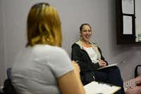 Sara Kendall (right) and Tracy Germait do an introductory exercise at a PPI class. Kendall is a graduate of the center's substance abuse rehabilitation program.Rose Baca - neighborsgo staff photographer