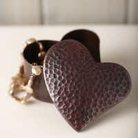 Heart smart: Made of hand- hammered, recycled copper by skilled coppersmiths, a handcrafted box is perfect for the guy or girl who values sustainability. $45 at nativetrails.net.