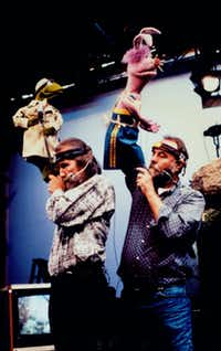 Jim Henson (left, with Jerry Nelson) created engaging puppet characters that entertained both children and adults.