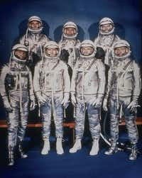 Scott Carpenter, the second U.S. astronaut to orbit the Earth, has died from complications from a stroke at 88. The seven astronauts of NASA's Mercury programme: Walter M Schirra, Deke Slayton, John Glenn Jnr, M Scott Carpenter, Alan B Shepard Jnr, Virgil I Grissom and Leroy Gordon Cooper Jnr.