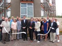 In 2012, Oak Cliff Chamber of Commerce members were excited to cut the ribbon for the grand opening of Zang Triangle Apartments at 390 E. Oakenwald St. in Dallas.