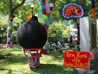 Yarn Bomb Jax,   a group of fiber artists, wants  to expand its activities, which  include dressing up trees to  brighten public spaces.(Robin Soslow - Robin Soslow)