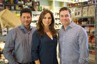 Co-owners of Royal Blue Grocery in Highland Park Village. Left to right: Cullen Potts, Emily Ray-Porter, Zac Porter