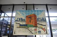 Artist Daniel I. Yanez's painting of the Bank Tower at Oak Cliff hangs in the lobby.(ROSE BACA - neighborsgo staff photographer)