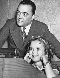 Temple plugged her ears as her father shot a federal agent's gun while FBI Director J. Edgar Hoover gave her a tour of headquarters in Washington, D.C.