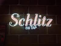 Schlitz is one of the beers that made Milwaukee famous.( Sheryl Jean )