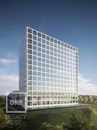 The One Legacy West tower will be ready in late 2016. (Gaedeke Group)