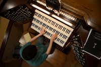 Brian Hataway, who was diagnosed with autism, plays music from The Phantom of the Opera on the organ at First Baptist Church in Garland.Rose Baca - neighborsgo staff photographer
