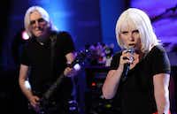 """In this image relesed by NBC, singer Deborah Harry of the music group Blondie performs on the """"Today"""" show in New York on Monday, Sept. 12, 2011."""