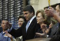 Gov. Rick Perry saluted the House chamber before his 2009 State of the State address.