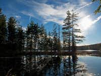 Idyllic scenes such as this one are abundant around the shores of Pharaoh Lake, one of the larger undeveloped lakes in Adirondack Park.Stephen Edwards