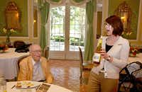 """Wood enjoys a spirited wine discussion during his Sonoma trip. """"The wineries bring back happy times with my mother and their friends,"""" his daughter said.<137,2014/07/20,McReynolds/c Rachel1>Photos courtesy of <137>Wish of a Lifetime"""