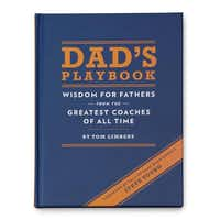 Offering insightful words from influential coaches, Dad's Playbook provides fathers with advice on staying positive, being a leader and encouraging mutual respect for others. Author Tom Limbert takes wisdom from John Madden, Vince Lombardi, Tommy Lasorda, Mike Tomlin, Lou Holtz, and others and applies it to fatherhood. $13 at uncommongoods.com.UncommonGoods  - UncommonGoods