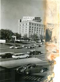 A view of the School Book Depository on Nov. 22, 1963, after President John F. Kennedy was shot.(Photos by JIM RYAN)