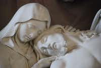 A close-up of Mary and Jesus after his crucifixion is from The Deposition by German sculptor Theodore William Achtermann. It's one of the highlights of visiting Rome's Trinità dei Monti church,  above the Spanish Steps.