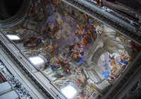 The ceiling of Rome's church of Sant'Ignazio di Loyola was painted using a trompe l'oeil technique, tricking the eye into thinking it is rounded, when it fact, it is flat. The church was built in 1626 and is one of many churches outside the Vatican that are worth a visit.
