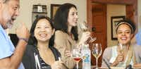 The tasting room  at Pedernales Cellars has a party atmosphere during weekend touring.(Pedernales Cellars)