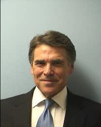 Rick Perry's mugshot (Photo courtesy of Austin Police Department).