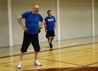 Gary Penniston plays pickleball at the Rowlett Community Centre.( Rose Baca  -  neighborsgo staff photographer )