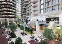 Corgan designed the interior atrium makeover at downtown Dallas' Plaza of the Americas complex.Corgan
