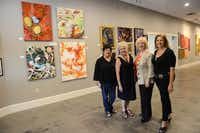 Pop Up exhibit organizers (from left) Kitty Goddard, Arts Incubator of Richardson president; Liz Conrad, organizer of the Pop Up exhibit; Lois Russell, Arts Incubator of Richardson vice president of operations; and Susan Bishop, local artist and planning committee member of the Pop Up exhibit, are helping put local art into the spotlight.
