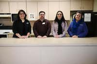 (From left): Toni Walton, Goodbar Senior Center supervisor; Mike Gibson, Griswold Home Care director; Trisha Lowery, Mesquite Social Services operations manager; and Diane Mickelson, senior recreation supervisor; stand in Goodbar Senior Center.( ROSE BACA/neighborsgo staff photographer )
