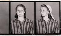 Zofia Posmycz's prisoner photo shows the striped pajamas prisoners were made to wear.