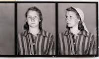 Zofia Posmycz's prisoner photo shows the striped pajamas prisoners were made to wear.