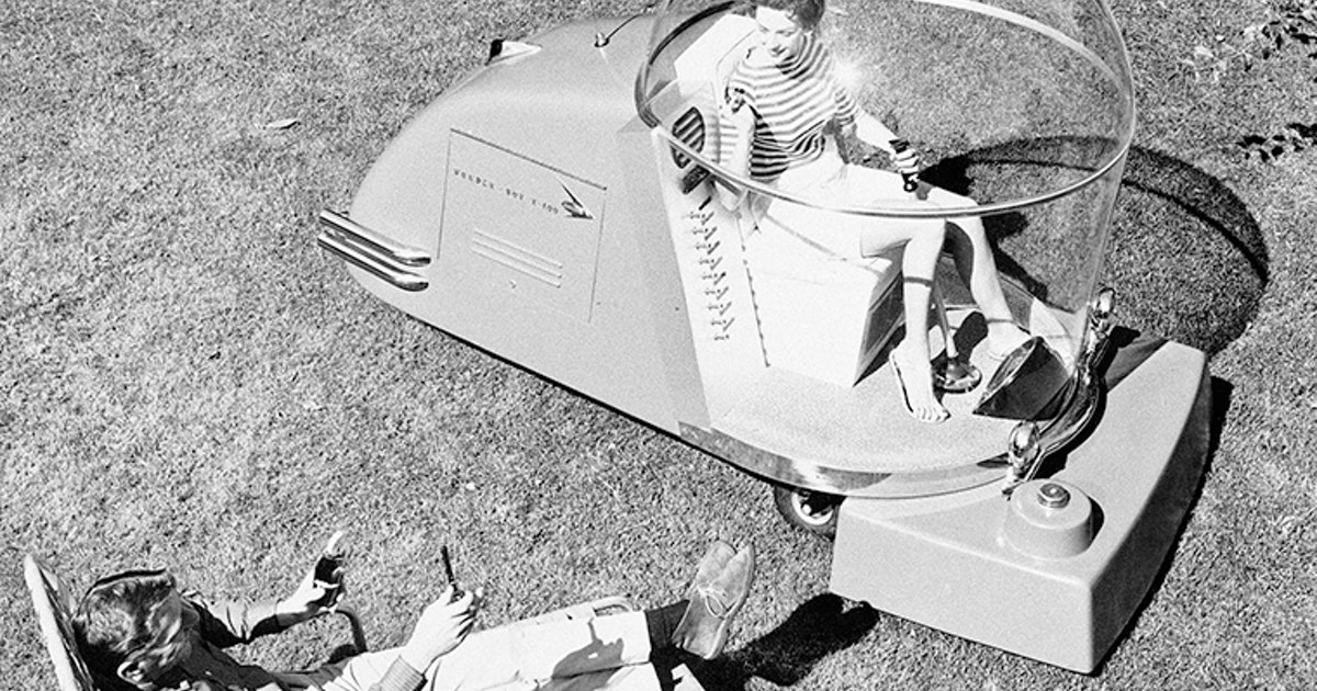 Flashback The Power Mower Of The Future Way Back In 1957