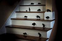 ARTFUL DODGERS: Halloween creature wall clings transform lowly rats into shadowy silhouettes that creep across walls or mirrors in a design of your making. The vinyl clings peel off without harming surfaces and can be reused. Set of 18, $9.99. www.improvementscatalog.com.