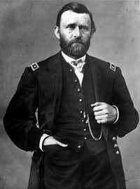 Ulysses S. Grant posed for Mathew  Brady in 1864.